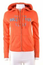 HOLLISTER Womens Hoodie Sweater Size 10 Small Orange Cotton  HE06