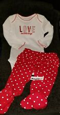 """CARTER'S CHILD OF MINE 2-PIECE BABY INFANT BODYSUIT """"LOVE THE LITTLE THINGS""""3-6M"""