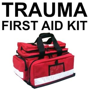 Filled Trauma Paramedic Style First Aid Kit WORKPLACE HIGH RISK
