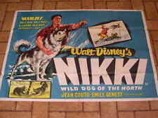 More details for large original husky dog cinema poster 1961 walt disney