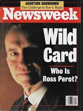 ROSS PEROT - NEWSWEEK April 27, 1992 - No Label - High Grade