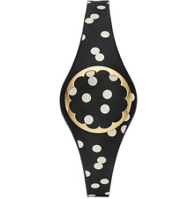 ★ Kate Spade Fitness Activity Steps Tracker Scallop Bracelet B&W Polkadot Band ★