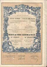 TOP DECO => emprunt VILLE de PARIS 1932 (PAYS-BAS) (J)