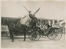 PARIS c. 1930 -Avion Cie Lufthansa Exploit Mr Hartmann Cocher Berlinois- PRM 429