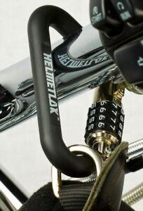 """Lucchetto Antifurto Blocca Casco Combinazione T Bar Cavo su Tubi 1,5"""" Helmetlok"""