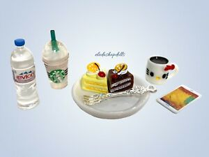 Eledoll 1:6 scale Food Lot Diorama Dollhouse Miniatures Phone Cellphone Coffee