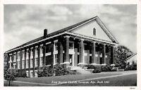 D46/ Luverne Alabama AL Postcard c1940s First Baptist Church Building