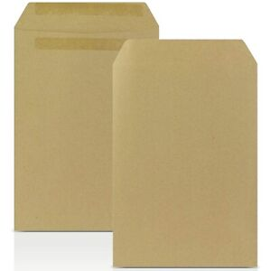 BROWN ENVELOPES C4 C5 A4 A5 MAILING MANILLA PLAIN (NO WINDOW) SELF SEAL OFFICE