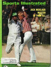 1972 4/17 Sports Illustrated magazine, Masters golf Jack Nicklaus, Augusta FAIR
