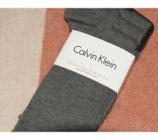 CALVIN KLEIN 3-PACK BAMBOO GREY HIGH SOCKS UK4-7 BNWT