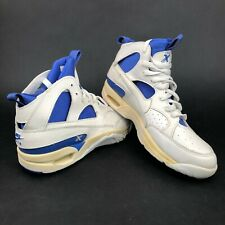 Vintage 90s Nike Air Cross Training Mens 7 High Top Shoes White Blue Dead Stock