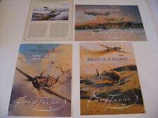 Lot of 4 Robert Taylor Luftwaffe Ace Erich Hartmann Print Advertising Brochures