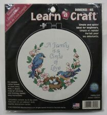 Dimensions Learn-A-Craft Family Love Counted Cross Stitch #72900 Nip