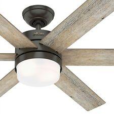 Hunter Fan 54 Em Bronze Contemporânea Nobre Indoor Ventilador De Teto W Luz E Controle Remoto