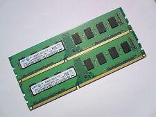 8GB 2x4GB DDR3-1333 PC3-10600 1333Mhz SAMSUNG M378B5273DH0-CH9 PC DESKTOP RAM