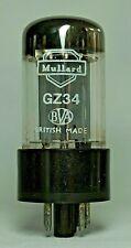 Rare Mullard GZ34 Fat Base Valve/Tube f31 Code Double Halo Getters B (V48)