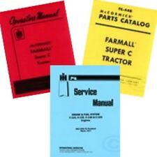 Farmall Super C Service Operators Owners Parts Manual