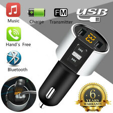Bluetooth Wireless Handsfree Car Kit FM Transmitter MP3 Player Dual USB Charger