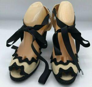 Christian Louboutin Wrap Around Wedge Shoes Size 8