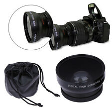 52mm 0.45x 52 Wide Angle Macro Lens for Canon Nikon 18-55mm 55-200mm 50mm Black