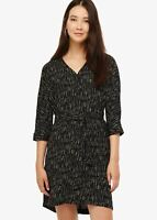 Phase Eight Antheia Belted Tunic Shift Dress Black/Ivory Size UK8 RRP89