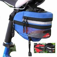 2018 Cycling Bag Bike Bicycle Seat Saddle Rear Extensible Blue RED Quick Release