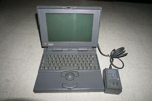 Vintage Apple Macintosh Powerbook 170  With Plug Powers Up