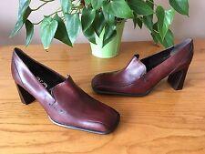 Damas De Cuero Marrón Castaño cara de Londres Tribunal Zapatos UK 4 EU 37 nuevo PVP £ 50