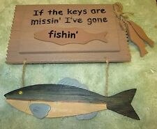 If the keys are missin' I've gone fishin' ( Wooden key box )
