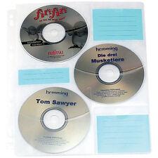 CD Hüllen zum Abheften: CD/DVD Ringbucheinlagen 2 x 3 für 60 CD/DVD