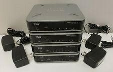 LOT OF 4 CISCO SG100D-08 8-PORT GIGABIT ETHERNET DESKTOP SWITCHES