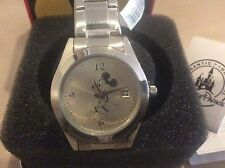 MENS MICKEY MOUSE WATCH Stainless Steel Japan Movement Disney Parks