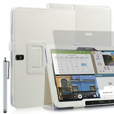 Funda para Samsung Galaxy Tab Pro (T520) - 10,1'' - Blanco + lápiz + protector