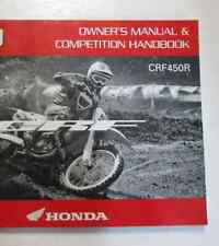 2011 HONDA CRF450R MOTORCYCLE Owners Manual Competition Handbook NEW FACTORY