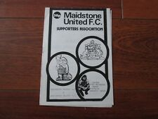 1985/6 MAIDSTONE UNITED v MAIDSTONE CELTIC (STEVE BRINKMAN BENEFIT)