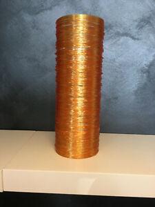 Lampenschirm Plexiglas orange Ø11cm H32cm Ersatzschirm Röhre