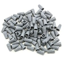 100 pcs Grey Screw On Wire Electrical Connectors Twist-On Easy Screw Pack