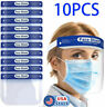 10PCS Safety Full Face Shield Reusable Washable Face Mask Clear Protection Cover