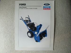 1988 Ford New Holland ST snow throwers brochure