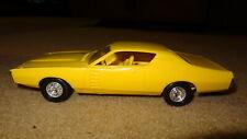 1972 72 Dodge Charger promo. Lemon twist yellow. promotional model car