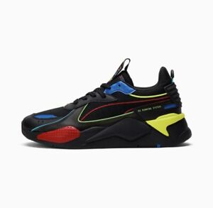 Puma RS-X Hypnotic Black High Risk Red Blue Yellow RSX Men's and Kids Size 4-14