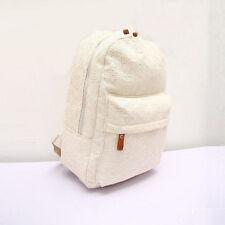 Women Lace Canvas Backpack Bag Schoolbag Handbag Bookbag Travel Rucksacks