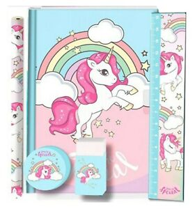 Licensed Disney Character Unicorn School Kids Stationery Set 5Pcs Xmas Gift 3+Y