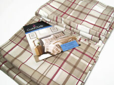 Cuddl Duds Heavyweight Cotton Ivory Red Brown Plaid Flannel King Sheet Set New