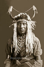 Restored Reprint Vintage Native American Indian Photo, HEAD CARRY, Edward Curtis