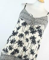 Marks & Spencer Ivory Floral Womens Babydoll Top Size 12