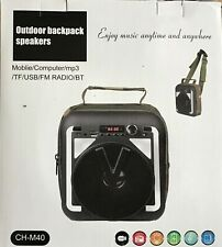 Bluetooth Outdoor Backpack Speakers use with Mobile/Computer/mp3/TF/USB/FM Radio