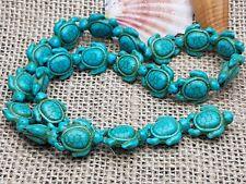 Strang Schildkröten Turtle Türkis Blau synth. Howlith Edel Stein Perlen 23 Stck