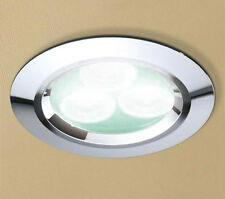 HIB Cool White LED Chrome Showerlight 5750 Shower Bathroom Ceiling Spotlight