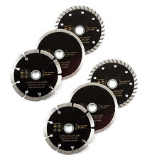 "6pc 4""  Wet Dry Turbo Diamond Blade Cutting Discs For Angle Grinder"